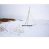Winter, Sailboat, Snowed, Winter Break