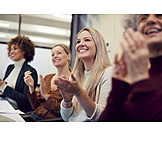 Meeting, Team, Presentation, Applauding