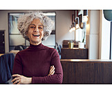 Woman, Laughing, Office, Portrait, Workplace