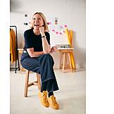 Laughing, Studio, Fashion Designer