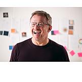 Portrait, Laughing, Designer