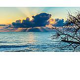 Sunset, Sunbeams, Black Sea