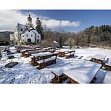 Winter, Höglwörth Monastery