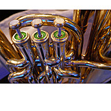 Close Up, Wind Instrument, Bass Tuba