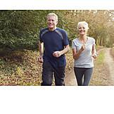 Active Seniors, Running, Older Couple