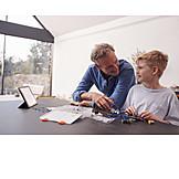 Enkel, Großvater, Wissenschaft, Bildung, Kinderleicht, Robotik