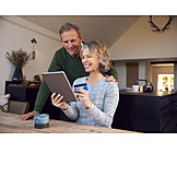 Paying, Credit Card, Online, Couple, Electronic Banking