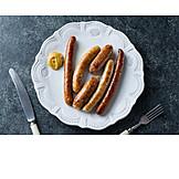 Mustard, Snack, Sausage