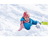 Girl, Snow, Playing