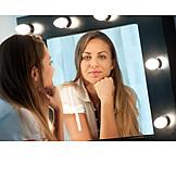 Young Woman, Mirror Image, Vanity Mirror