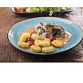 Roulade, Gnocchi, Fillet Of Pork
