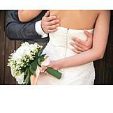 Embracing, Wedding Couple