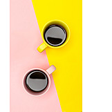 Coffee, Yellow, Pink