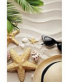 Beach, Vacation, Sunshade