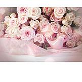 Wedding, Romantic, Rose Bouquet