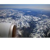 Aerial View, European Alps, Mountain Top