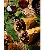 Rotwein, Maronen, Geröstet