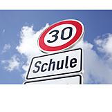 School, Speed Limit, Number 30
