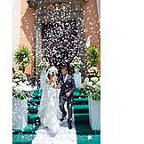Wedding, Confetti, Wedding Couple