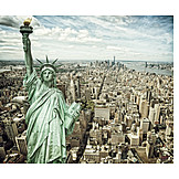 New york, Skyscrapers, Statue of liberty