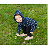 Toddler, Meadow, Showing, Discover