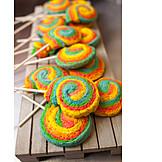 Multi Colored, Cake, Lollipop
