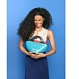 Young Woman, Laughing, Purse