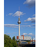 Berlin, Television tower, Plate