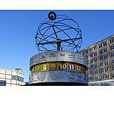 Berlin, World clock , Urania, Weltzeituhr