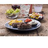 Griechische Küche, Bifteki, Grillteller