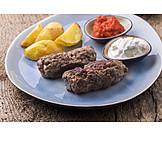 Abendessen, Griechische Küche, Bifteki