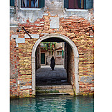 House, Gate, Old Town, Venice