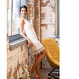 Dress, Loft apartment, Crochet dress