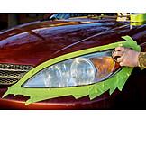 Car, Headlamps, Polishing