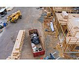 Building Construction, Construction Site, Construction Material, Wooden Construction