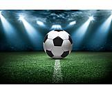 Soccer, Socce stadium, Spotlight