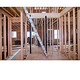 Ladder, Building Construction, Construction Site, Beams