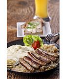 Bratwurst, Deutsche Küche, Mittagessen, Nürnberger
