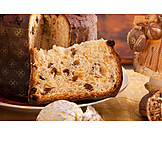 Cake, Candied Fruit, Panettone