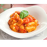 Tomato sauce, Lunch, Gnocchi