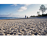 Beach, Walkers, Baltic Sea Coast
