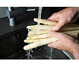 Asparagus, Washing