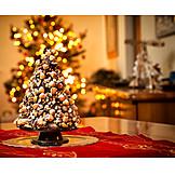 Nuts, Chocolate, Christmas Decoration, Christmas Tree