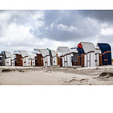 North Sea, Beach Chairs, Bad Weather