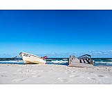 Beach, Pier, Baltic Sea, Fishing Boat