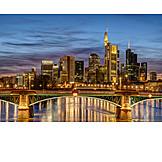 Skyline, Bridge, Frankfurt