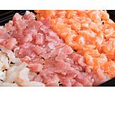 Fish, Raw Fish, Diced