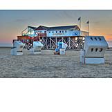 Beach, Beach Chairs, Sankt Peter-ording