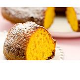 Dessert, Powdered Sugar, Sponge Cake