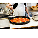 Preparation, Olive Oil, Watering, Pizza Dough